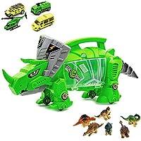 Luckyx Dinosaur Transporter Car Transporter Truck Toy Mini Dinosaur Toy Car Model Portable Storage Carrier for Kids Toy Transport Carrier for Kids Boys Girls