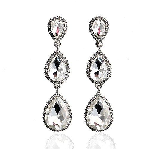 hrringe mit großen Tropfen Ohrringe Geometrische Diamant Kristall Ohrringe ()