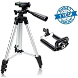 Syvo Tripod - 3110 Portable & Foldable Camera - Mobile Tripod With Mobile Clip Holder Bracket , Fully Flexible Mount Cum Tripod , Standwith Three-dimensional Head & Quick Release Plate Only 150 gm (Black)