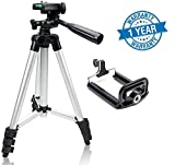 #8: Syvo Tripod - 3110 Portable & Foldable Camera - Mobile Tripod With Mobile Clip Holder Bracket , Fully Flexible Mount Cum Tripod , Standwith Three-dimensional Head & Quick Release Plate Only 150 gm (Black)