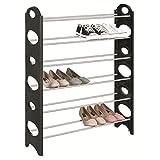 Platzsparende Schuhregal mit 6 Schuhablagen für 24 paar Schuhe Schuhständer Schuhbank als Stecksystem beliebig erweiterbar Schuhschrank Masse 90x20x94 cm