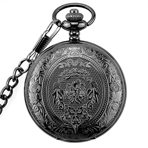 6a0b5e66890f BestFire Pocket Watch Vintage Quartz Pocket Watch Classical Sculptured Fob  Pocket Watch with Short Chain for