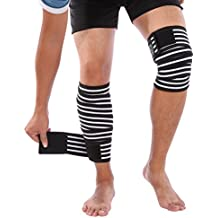 Doact Rodillera Ajustable Soporte para Alivio de dolor Articular, Artritis, Rotura del Menisco, deportes, correr - para Mujer y Hombre (2 pcs)