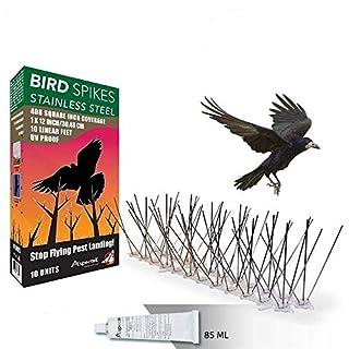 Aspectek Taubenspikes- Spikes zur Vogelabwehr - wetterfeste Taubenspikes und Vogelspikes - Polycarbonat oder Edelstahl (HR413)