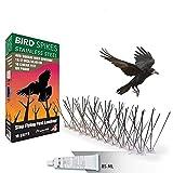 Aspectek Sistema Anti pájaros de Acero Inoxidable...