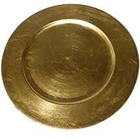 Platzteller Dekoteller Gold 36cm Goldteller Teller