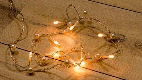 Wunderfabrik 2X 10er LED-Lichterkette Perlen, batteriebetrieben - Deko