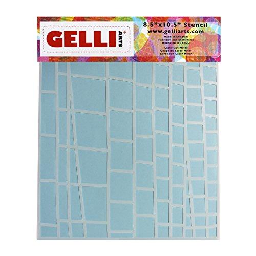 Gelli Arts Leiter Schablone, Kunststoff, weiß, 33x 22,9x 0,1cm