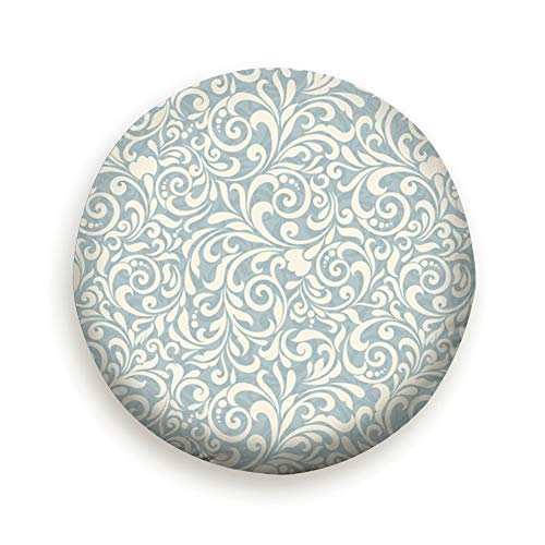Baroque Style Beige Blue The Arts Spare Wheel Tire Cover 16inch -