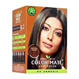 #7: Color Mate Herbal Based Ammonia Free Hair Color with Ayur Product in Combo (9.2-Natural Brown)