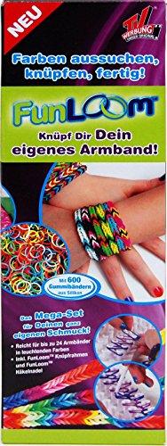 Fun Loom Starter-Armband-Set inkl. 600 Bändern, Knüpfrahmen und -nadel -