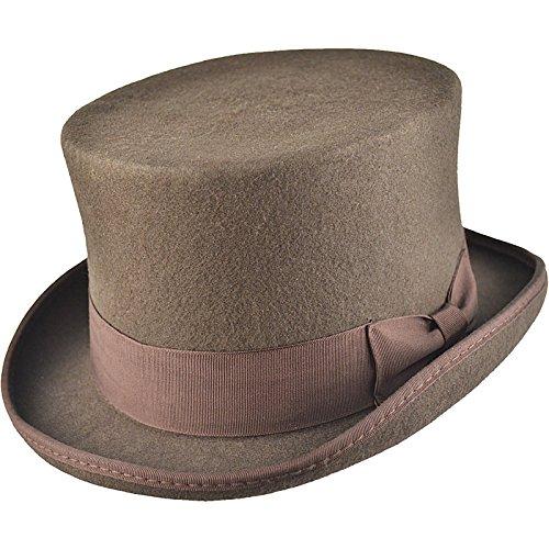 Hochwertiger Zylinderhut, satingefütterter Hut aus 100% Wollfilz