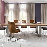 Unbekannt 260cm Design Esszimmertisch Eiche verwittert Edelstahl Esstisch Esszimmer Tisch