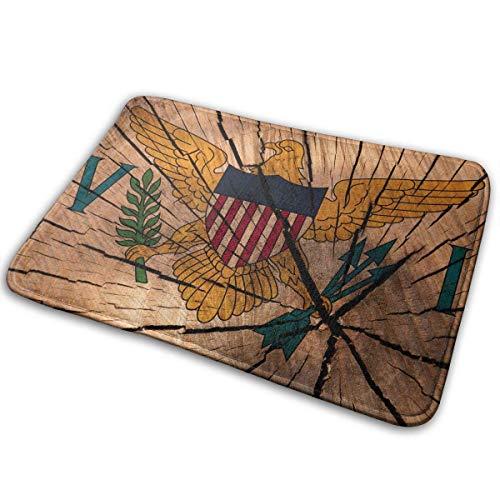 ghkfgkfgk EWFXZq Flag United States Virgin Islands Doormat Anti-Slip House Garden Gate Carpet Door Mat Floor Pads 15.7