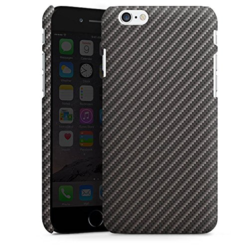 Apple iPhone X Silikon Hülle Case Schutzhülle Carbon Look Schwarz Grau Metall Premium Case matt