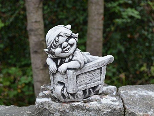 Lustiger kleiner Gnom V Troll Wichtel Fantasiefigur aus Steinguss frostfest - 2