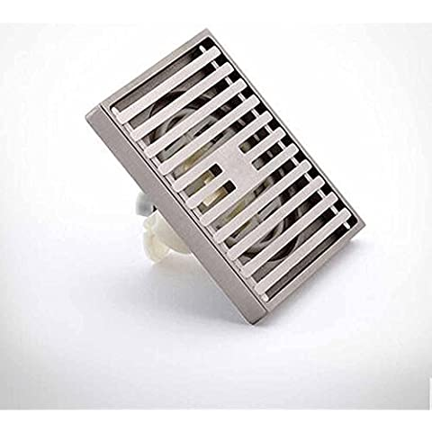 NHD-Fashion simple shift ultra-thin drain tube, copper wire bathroom shower floor drain