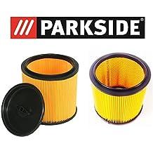 Parkside Lidl Juego de filtros para aspiradora en seco húmedo pnts compuesto de 91099009 & 91092030