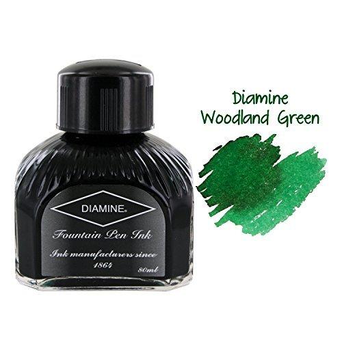 Diamine Ink,Green Black,Grün Schwarz,Tinte im Tintenglas,80 ml