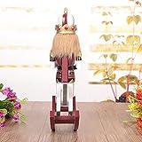 ELECTROPRIME 2pcs Rocking Horse Walnut Nutcracker Wooden Puppet Xmas Display Ornament Toy