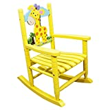 Teamson Kids Childrens Giraffe Jungle Rocking Chair Wooden Rocker Seat Nursery Furniture Toy W-8339A