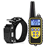 LAYBAY-Training collar 800M Fernbedienung Hund Elektro-Training Kragen,Hundetraining Kleidung Krawatte,Remote Dog Training Collar, Haustiertrainer mit Warntönen, Wasserdichte Vibration, LCD Monitor