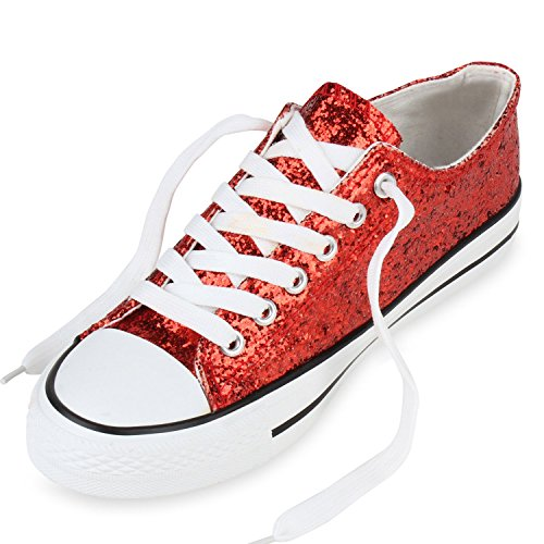 Stiefelparadies - Scarpe da Ginnastica Basse Donna Rosso (rosso)