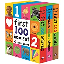 First 100 Boxed Set (3 Small Board Books Without Padded Cover)