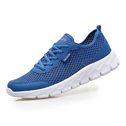 Uomo Estate Scarpe sportive Taglia larga Moda traspirante Scarpe da corsa scarpe per il tempo libero Blue