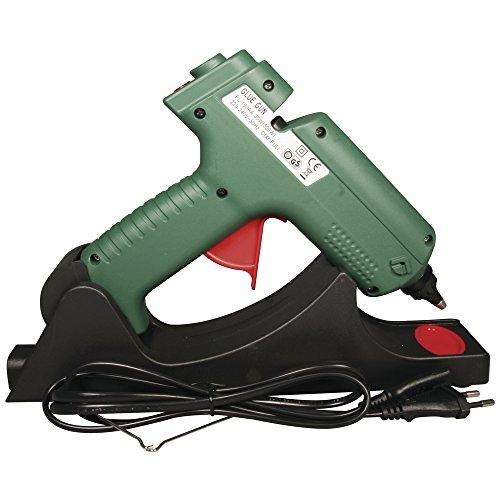 Rayher 30091000 Pistolet à Colle, sans Fil avec Support de Base, idéal pour Les activités manuelles, 1 Pistolet à Colle Chaude en Plastique 20,5 cm x 17cm, Box-Blister, Vert, Rouge et Noir