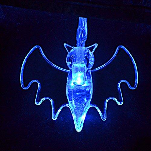 Art Beauty Halloween dekorative Lichterketten blaue Fledermaus LED Licht Dekoration Party Gefälligkeiten Decor Set 20 batteriebetrieben (Twinkle Kürbis)
