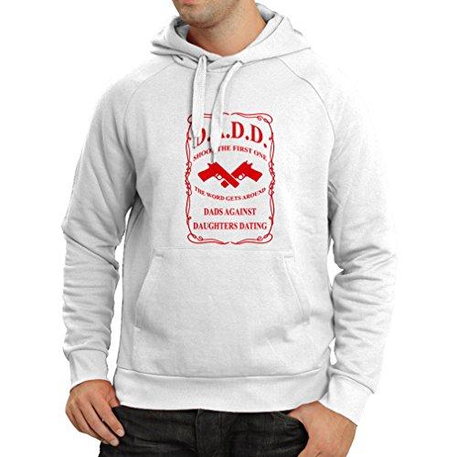 lepni.me Kapuzenpullover Vatis gegen Töchter datieren, die lustige T-Shirts lustige geschenke für papa Vatertagsgeschenke (Medium Weiß Rote)