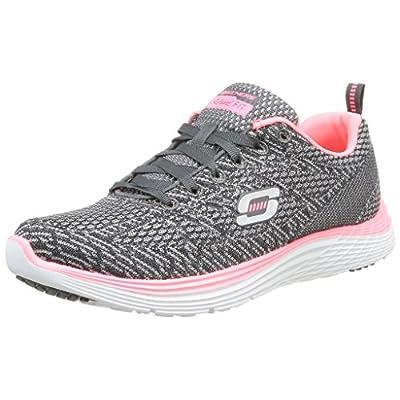Skechers Valeris - Zapatillas para Mujer, Color Gris (Charcoal/Rose), Talla 37