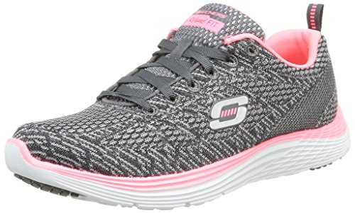 Skechers - Valeris, Sneakers da donna, grigio (charcoal/rose), 37