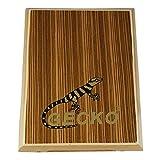 Ubeta Musique Compact Boîte de voyage tambour Cajon Flat tambour à main Instrument à percussion avec cordes réglable Sac de transport PAD-2 PAD-2