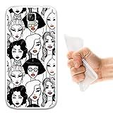 WoowCase Umi Rome Hülle, Handyhülle Silikon für [ Umi Rome ] Rote Lippenstift Mädchen Handytasche Handy Cover Case Schutzhülle Flexible TPU - Transparent