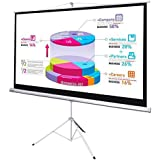 """GHP 87""""x49""""16:9 Matte White 160° Viewing Angle Projection Screen With Tripod Stand"""
