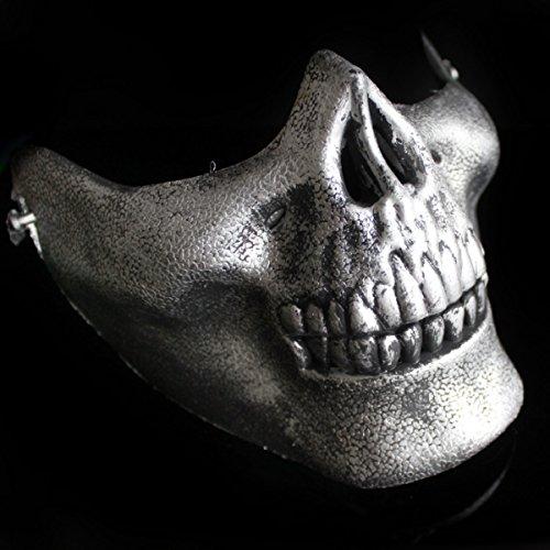 Halloween Halloween Horror Kopfbedeckung Maske Scary Haunted Haus Dress Up Underworld Boss Latex (Weißer Für Erwachsene Krieger Maske)