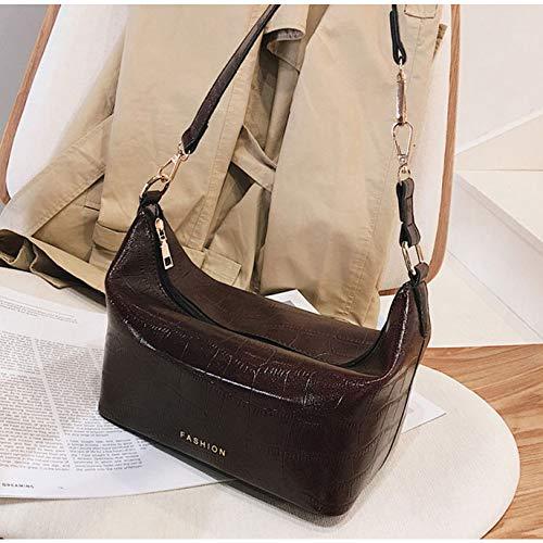 TYUJYT Umhängetasche Mode Weiche Pu-Leder Frauen Handtasche Steinmuster Weibliche Vintage Umhängetasche Berühmte Crossbody Tasche ()