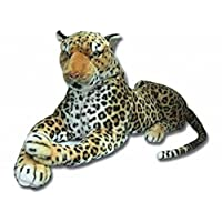 "Realistic Large Leopard Soft Toy Plush Stuffed 140cm 50"" Lifelike Features"