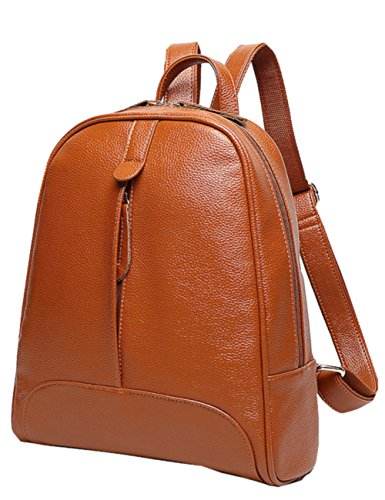 PULABO City Leder Rucksack Damen taschen Schultertasche Stadtrucksack Damenrucksack Daypack