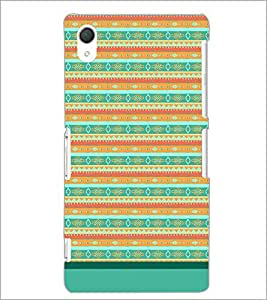 PrintDhaba Tribal Pattern D-1733 Back Case Cover for SONY XPERIA Z3 (Multi-Coloured)