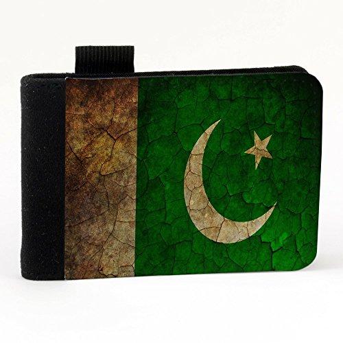 Bandiere Pakistan 1, Mappa del Mondo, Nero Polyester Piccolo Cartella Congressi block notes Tasca Taccuino con Fronte di Sublimazione e alta qualità Design Colorato.Dimensioni A7-131x93mm.