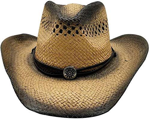 Sun Brown Herrenhüte Outdoor Cowboyhut Sommer Herren Strohhut Sommer Caps
