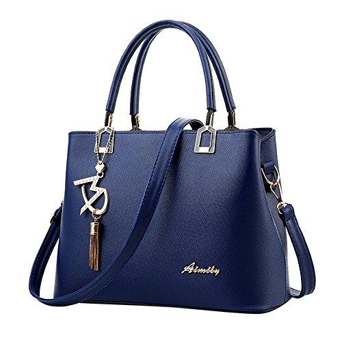 Damen Vintage Tote Beutel Schultertasche Handtasche Mode Handtasche Messenger Bag -