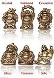 6 stück verschiedene Buddha Figuren Glücksbringer Happy Buddha