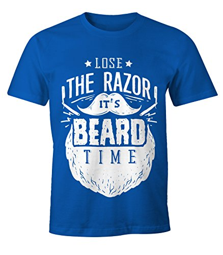 ... it's Beard Time - Moonworks Royal. Herren T-Shirt - Bart Hipster  Bartträger Mustache Barber Shop Barbier - Lose the Razor