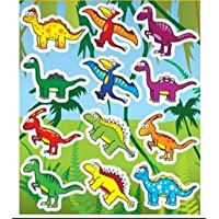 HENBRANDT 12 Sheets of Dinosaur Stickers ideal for Party Bag Fillers - Party Gifts