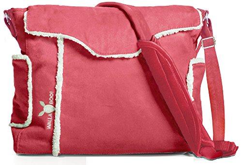 Wallaboo Nore - Bolso para pañales y cambiador, color rojo