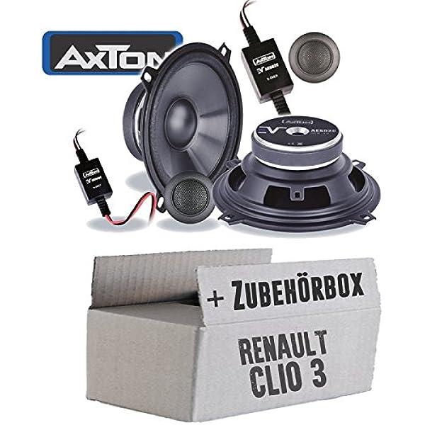 Lautsprecher Boxen Axton Ae502c 13cm 2 Wege Koax Auto Einbauzubehör Einbauset Für Renault Clio 3 Front Heck Just Sound Best Choice For Caraudio Navigation